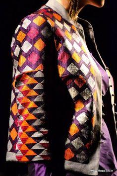 "Phulkari embroidery by (Payal Pratap) - ""Trending"" at Wills India Fashion Week A/W 2013"