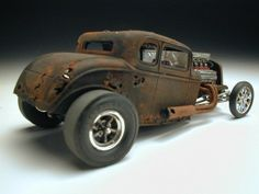 Rat Rod Cars, Rat Rods, Traxxas Bandit, Model Cars Building, Car Part Furniture, Rc Cars And Trucks, Miniature Cars, Plastic Model Cars, Model Cars Kits