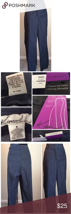 Kim Rogers Fit Solutions Pants Slimming feature smoothing tummy career pants. Kim Rogers Pants Trousers