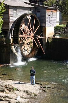 The old mill pigeon forge tn on pinterest for Fishing in pigeon forge tn