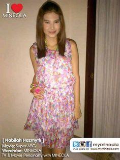 #myMINEOLA with TV & Movie Personality Nabilah Hazmyth yang berperan sebagai Ocha di Sinetron Super ABG mengenakan dress chiffon cantik motif floral koleksi dari MINEOLA untuk mendukung penampilannya.  Dress floral yang Nabilah kenakan dapat dilihat di: http://www.facebook.com/photo.php?fbid=10151138858244046=a.10151163910919046.553439.98906349045=3