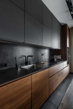 53 Favorite Modern Kitchen Design Ideas To Inspire. When it comes to designing the modern kitchen, people typically take one of two design paths. The first path uses modern art as inspiration to creat. Kitchen Room Design, Kitchen Colors, Home Decor Kitchen, Kitchen Layout, Interior Design Kitchen, New Kitchen, Kitchen Ideas, Kitchen Inspiration, Awesome Kitchen
