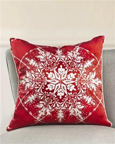 Embellished Snowflake Pillow