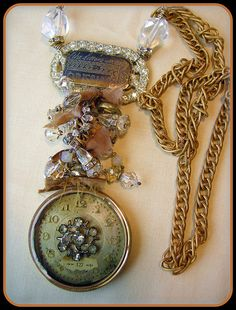 Antique Watch with Resin Necklace 3   Flickr - Photo Sharing!