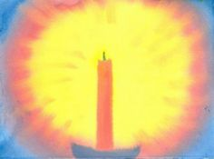 Waldorf ~ 2nd grade ~ Watercolor Painting ~ Candle