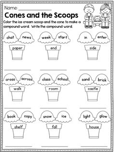 Compound Words: Cut and paste! PERFECT introduction to