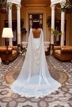 Greek Wedding Dresses, Wedding Dresses For Girls, Wedding Dresses Photos, Boho Wedding Dress, Wedding Dress Sleeves, Bridal Dresses, Wedding Gowns, Wedding Cape Veil, Pretty Dresses