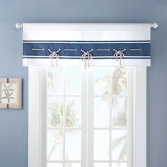 Harbor House™ Sailor Window Valance $30, I had to get two, because I have wide windows- which actually means I ended up with four of these, they come two to a package.