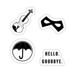 'Umbrella Academy Starter Pack' Sticker by Spread-Love Meme Stickers, Tumblr Stickers, Phone Stickers, Printable Stickers, Aesthetic Stickers, T Shirts For Women, Wallpapers, Briefcase, Phone Cases