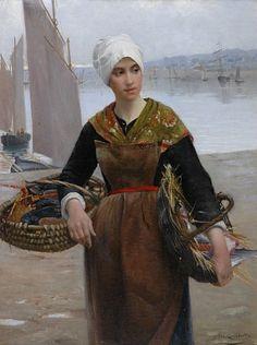 """Alfred Guillou, """"Jeune pêcheuse de Concarneau""""."""