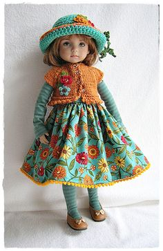 Little Darling Fall Outfit in Teal n Orange | Flickr - Photo Sharing!