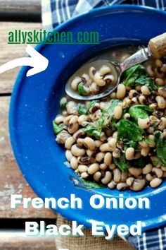 Yes, this French onion flair sure does take these beans from maybe just plain and lowly to rather prissy and special. #blackeyedpeas #blackeyedpearecipe Healthy Meals For Kids, Good Healthy Recipes, Quick Easy Meals, Kids Meals, Easy Recipes, Healthy Snacks, Blackeyed Pea Recipes, My Favorite Food, Favorite Recipes