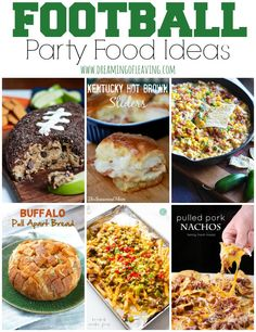 Fun #Football Party #Food Ideas | Dreaming of Leaving | Football appetizers, snacks, and treats for the whole family!
