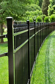 7 Wealthy Clever Tips: Iron Fence With Pillars wooden fence backdrop.Iron Fence Interior easy fence how to build. Front Yard Fence, Farm Fence, Fenced In Yard, Fenced Garden, Horse Fence, Brick Fence, Iron Fence Gate, Wrought Iron Fences, Fence Landscaping