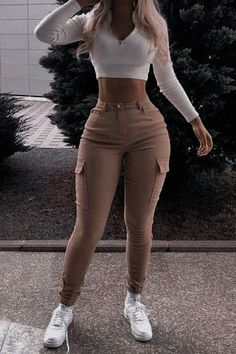 Baddie Outfits Casual, Swag Outfits, Mode Outfits, Cute Casual Outfits, Stylish Outfits, Tomboy Fashion, Teen Fashion Outfits, Look Fashion, Streetwear Fashion