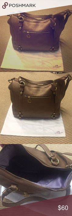 Coach Purse (Brown) Coach Purse (Brown) Coach Bags Shoulder Bags