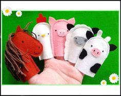 """""""Bauernhof"""" - Fingerpuppen aus Wollfilz im Set von ♥♥ Avantalia ♥♥ auf DaWanda.com"""