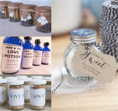 DIY wedding favors - love spice (or BBQ rubs)