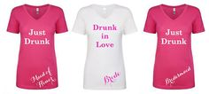 Drunk in Love bachelorette party shirts, Bridal party T-shirts, bachelorette Tshirt, beyonce tshirt