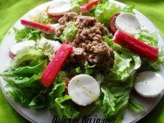 Receita Prato Principal : Salada de alface, tomate, atum e delícias do mar de Delicias Divinais