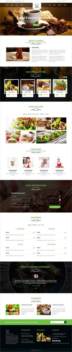 Foodin is a wonderful responsive HTML #Bootstrap template for #restaurant, cafe and food business #websites with 8+ homepage layouts download now➩ https://themeforest.net/item/foodcafe-html5-template/18929022?ref=Datasata