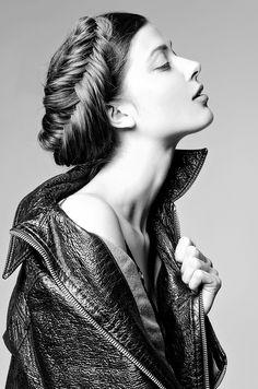 "silverlininglookbook: ""paradisonyc: "" Larissa Hoffman New York Fashion Photographer Joseph Paradiso Yuki NYC www.paradisonyc.com "" B&W fashion blog """