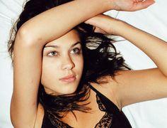 Alexa Chung as a young model