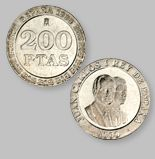 200 Pesetas de la Antigua Moneda Española - Money Made in Spain