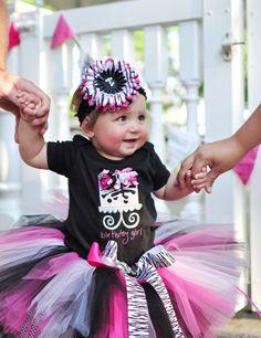 Zebra Tutu Set for baby infant toddler girls by TrinitysTutus, $25.00