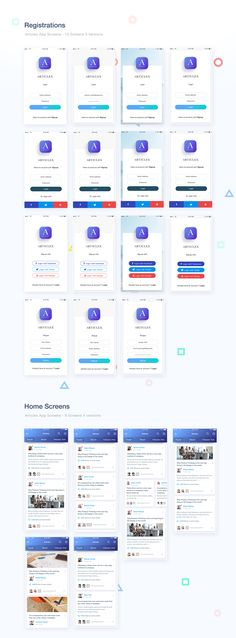 Articlex- Multipurpose iOS application design on Behance