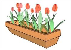 3D Model of tulip flowers planted in a rectangular pot for indoor decoration of houses, kitchens, offices, balconies and lounges ready for use in SketchUp modeling. Language English Drawing Type...