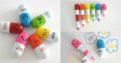[TOPITRUC] Des stylo rétractables petites pilules pour survitaminer ta trousse