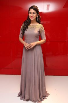 Best 12 Actress Mia George New Photos In Violet Dress Indian Wedding Gowns, Indian Gowns Dresses, Prom Dresses, Long Gown Dress, Frock Dress, Indian Designer Outfits, Designer Dresses, Gown Party Wear, Frocks And Gowns