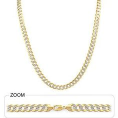 "40.50gm 14k Two Tone Gold Men's Heavy Cuban Pave Chain 26"" 6.50mm - http://www.wonderfulworldofjewelry.com/jewelry/mens-jewelry/mens-necklaces/4050gm-14k-two-tone-gold-men39s-heavy-cuban-pave-chain-26-650mm-com/ - Your First Choice for Jewelry and Jewellery Accessories"