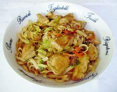 Kuracina s ryžovými rezancami Rigatoni, Paleo Recipes, Cabbage, Good Food, Gluten Free, Pasta, Dinner, Vegetables, Cooking