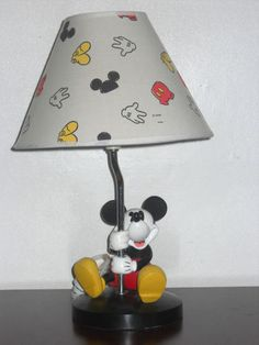 Disney Classic Mickey Mouse Lamp Figure RARE Decorative Display Collectible  | EBay