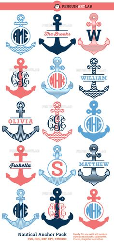Anchor Monograms                                                                                                                                                                                 More