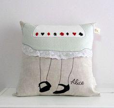 Alice in wonderland pillow.