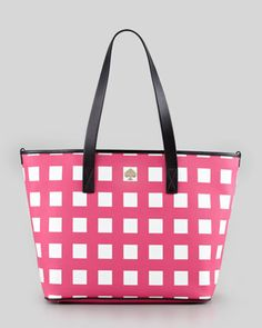 harmony check diaper bag, pink/cream by kate spade new york at Neiman Marcus.
