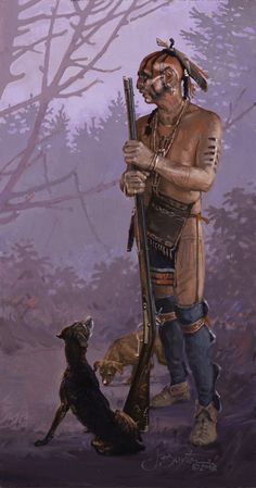 John Buxton, woodland warrior and his dogs