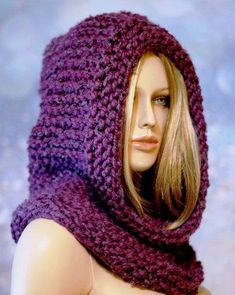 Katnis and Highlands Inspired Hooded Cowl Post Apocalyptic Armor in Fig Color, Knitted Hoodie Pixie Hood Hat, Infinity Scarf, MADE TO ORDER - women Life ideas Crochet Hooded Cowl, Crochet Hooded Scarf, Knit Crochet, Crochet Hats, Crochet Granny, Outlander Knitting, Neck Scarves, Neck Warmer, Knitted Hats