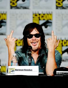 Norman Reedus (and his tongue) at the TV Guide Fan Favorite Panel for SDCC