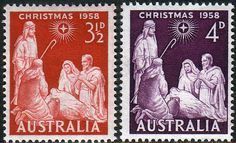 Australia 1957 SG 306 7 Christmas Set Fine Mint SG 306 7 Scott 312 3 Condition Fine MNH Only one post charge applied on multipule purchases Details N Aussie Christmas, Australian Christmas, Christmas In Australia, Old Stamps, Christmas Settings, Book Journal, Stamp Collecting, Postage Stamps, Mint