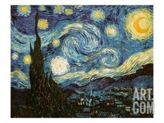 Starry Night, c.1889 Giclee Print by Vincent van Gogh at Art.co.uk