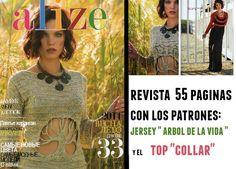 Patrones Crochet: Jersey arbol de la vida y top collar. Revista