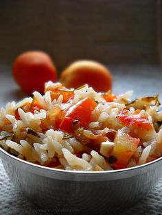 portuguese tomato rice recipe, how to make tomato rice recipe