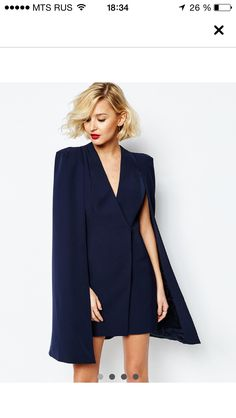Asos short cocktail dress with cape