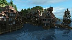 minecraft island town - Google Search