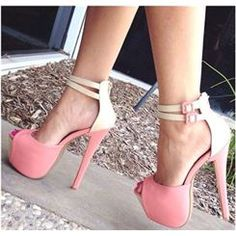 Amazing Contrast Color PU Platform Sandals