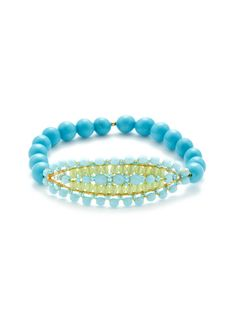 Miguel Ases Turquoise & Quartz Stretch Bracelet: Did I pin this twice?  It is that amazing!!